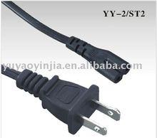 IEC320 C7 to Flat USA Plug Mains Lead