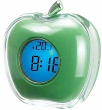 blue backlight apple shape talking clock