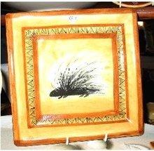 Porcupine pottery side plate