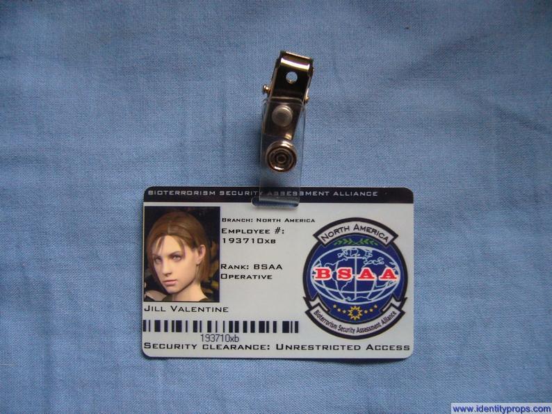 Resident Evil Bsaa Logo Bsaa Costume id Card Resident