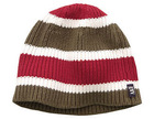 100% acrylic striped fashion knitted crochet beanie hat