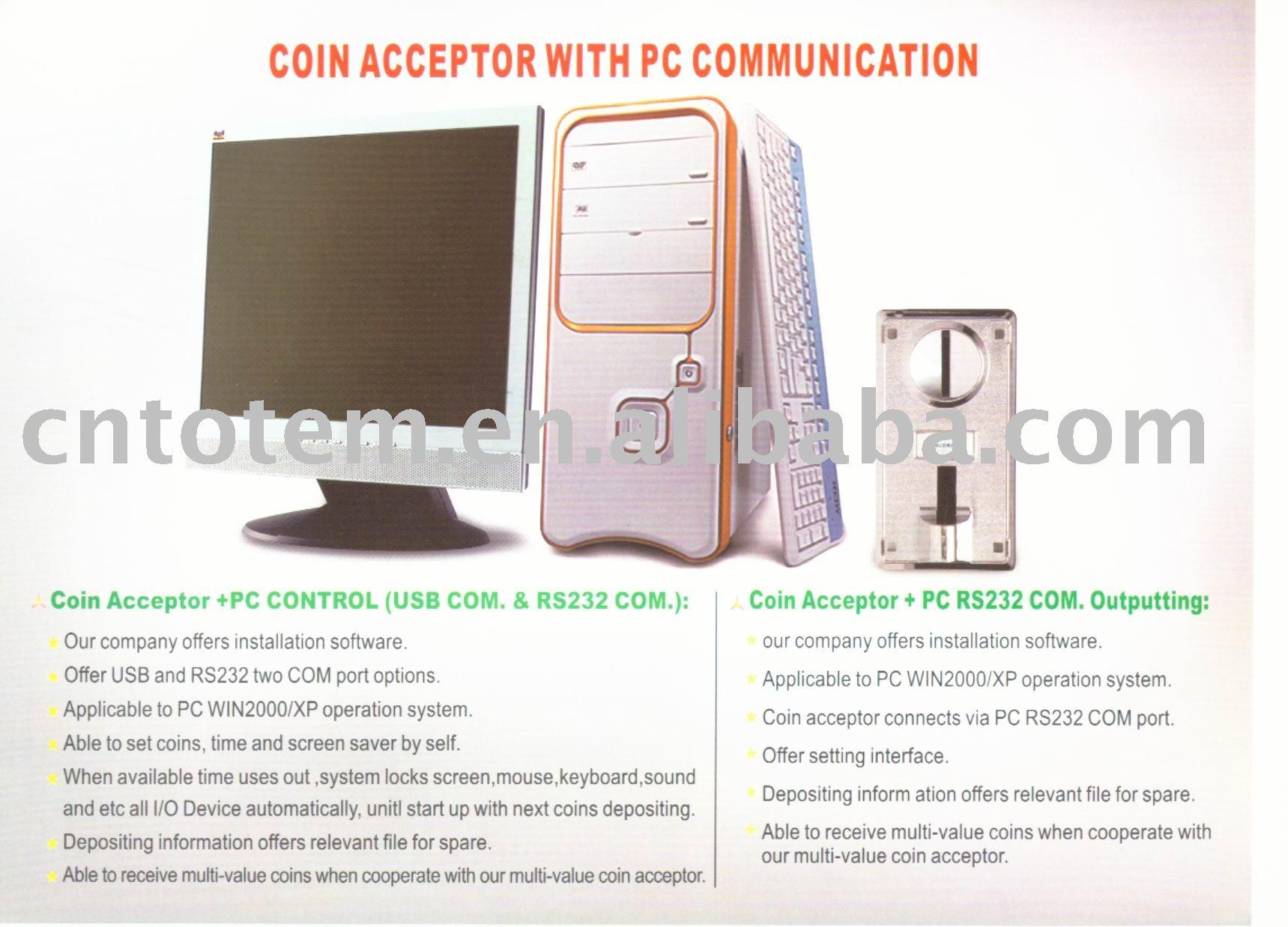 Aceptador de monedas + pc de control
