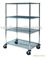 Industry prevent static cart/castor/wire shelving/display shelf