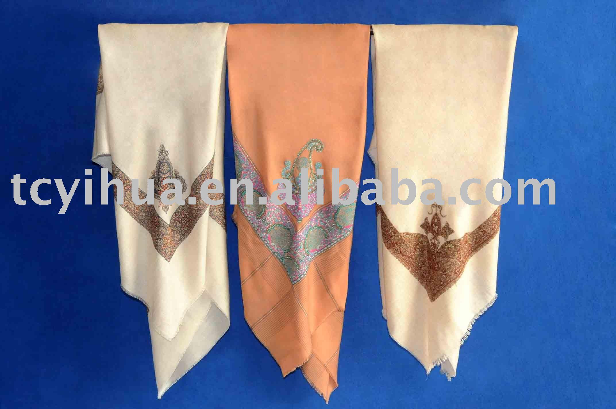 Arab Embroidered Scarf / Cashmere Shawl /Pashmina Scarves