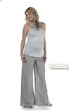 100% Linen Pants Maternity Wear