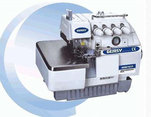 Gemsy alta - velocidad de hilo 5 máquina de coser overlock