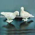 Paloma / paloma / pájaro estatua, animales figura / estatuilla, adornos de jardín y decoración