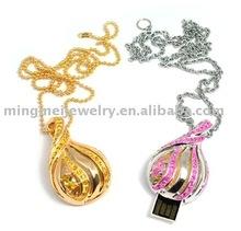 OEM Christmas gift diamond jewelry usb flash drive