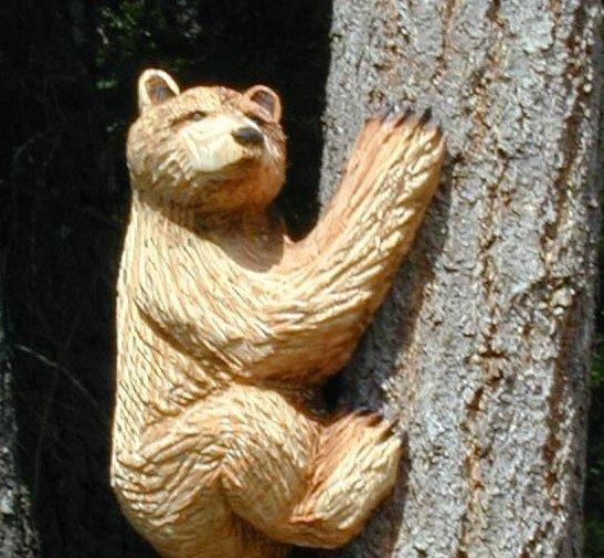 Climbing Bear Cub sculpture