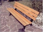 CAST IRON AND WOOD BENCHES