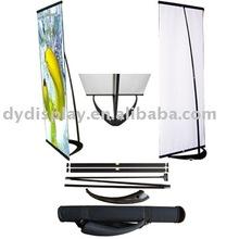 V shape banner stand