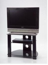 Plasma / LCD black glass TV Stand from 18' to 24' screen TVs. Iconic UKGL 2405