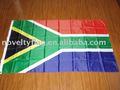 el sur de áfrica de la bandera nacional lleno en polybag
