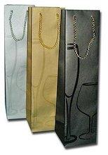 WINE Box Decor Single Bottle Bag
