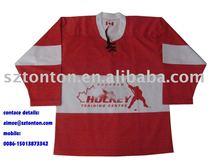 red hockey tops, hockey sports wear