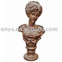 Cast Iron Bust Sculpture