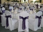 polyester chair covers are used for wedding