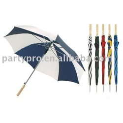"""27"""" with 8 ribs 190T polyester advertising umbrella with wooden handle"""