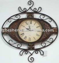 metal wall clock,antique wall clock,metal clock