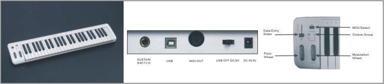 MIDI Keyboard MIDIPLUS 49N