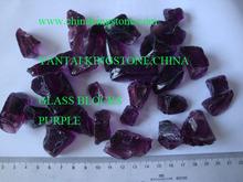 Purple glass rocks