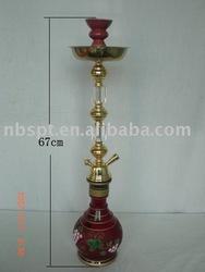 67cm Golden Crystal Big Shisha With Man-made Vase