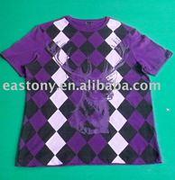 Deer Heard artwork cotton fashion t-shirt with Diamond Shape Model background