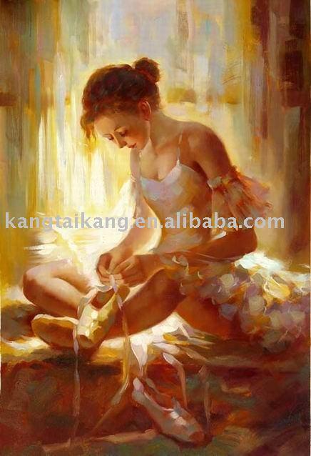 Handmade nude women painting