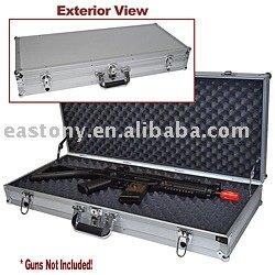 Gun case,hard gun cases,gun box,Silver Hard Sided Break Down Gun Case