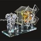 music box , crystal crystal handicrafts, crystal gift