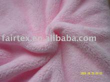 Pink Polyester Warp Knitting Coral Fleece Fabric