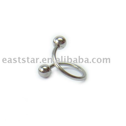 female genital piercing jewelry. body jewelry Labret bar body