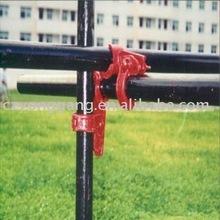 la dimensión del hierro de ángulo/el acoplador doble de la abrazadera/del andamio/cruzó el sistema del sujetador