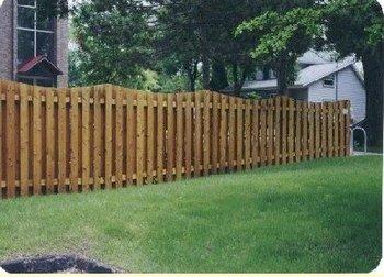 Fence - Board on Board, Scalloped