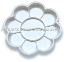 Floral Plastic Palette, Dia. 14cm