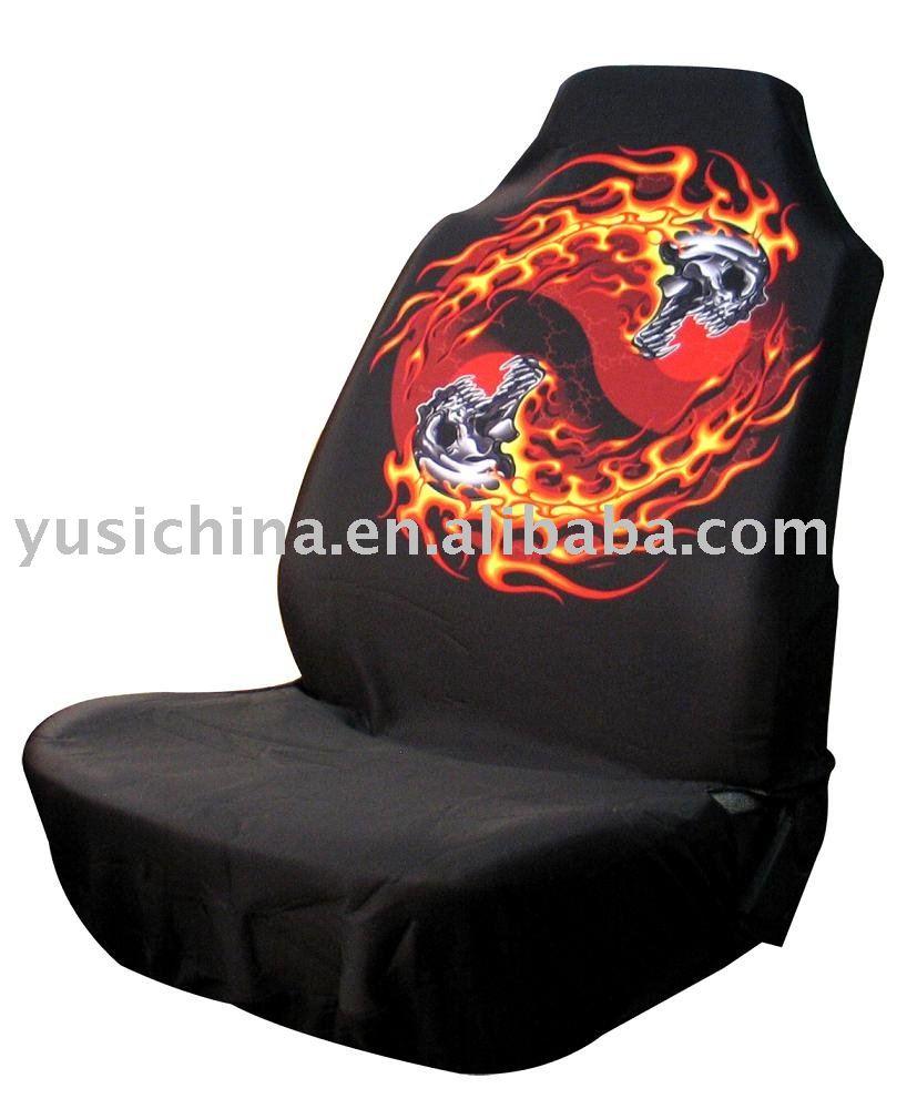 Car Flames Flame Dragon Car Seat Cover