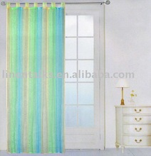 rainbow organza curtain