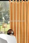 linen-look stripe curtains