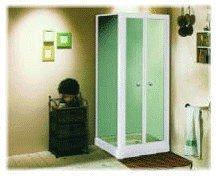 shower door: DOUBLE PIVOT DOORS