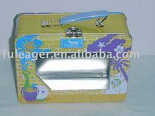 Handle Tin box with PVC