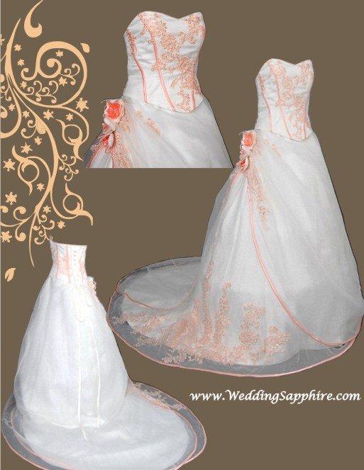 bridal style and wedding ideas: Sweet Orange Wedding dress