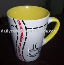 10oz ceramic coffee mug with hand painting