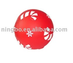 For Pet Cat and Dog Vinyl Squeaker Red Ball Toy