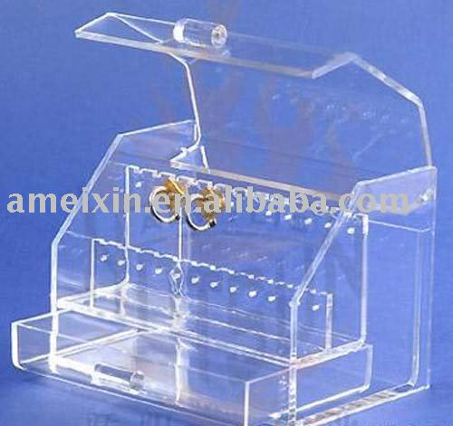 Acrylic jewelry revolving display case in Collectibles - Shop at