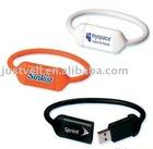 4gb silica gel bracelet usb flash drive