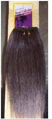 Hair Extension-URBAN BEAUTY BEAUTI COLLECTION MIXED GRAY #44 YAKI HUMAN HAIR