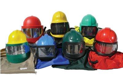 Cascos de seguridad y lentes de reemplazo
