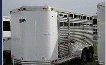 Horse Trailer:2009 Factory Demonstrator Combination 3 Horse Slant Load Bumper Pull