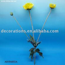 3 heads Poppy - Artificial Flower