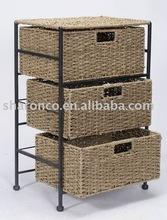 seagrass cabinet/seagrass chest/seagrass furniture/wicker furniture with latest design